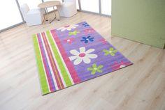 Παιδικά χαλιά Royal Kids - Royal Carpet. Μωβ - ροζ - λαχανί