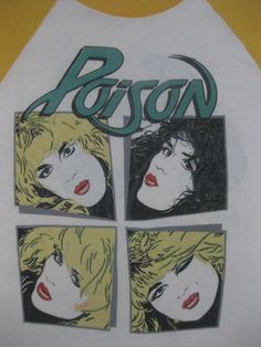 Vintage POISON 80s tour T SHIRT concert jersey:  I can't lie I love Poison.  Feel free to judge.