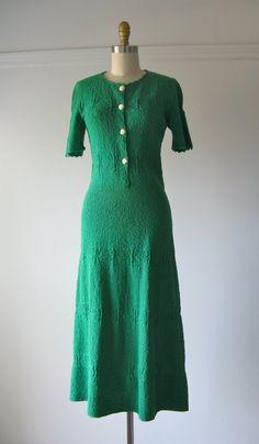 vintage 1940s knit dress