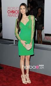 Nina Dorbrev  Green dress