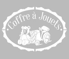 Pochoir Adhésif 30 x 20 cm PUB COFFRE A JOUETS Adhesive Stencils, Stencil Diy, Silhouette Portrait, Diy Kids Furniture, Creation Art, Woodworking Toys, Stencil Patterns, Cricut Cards, Kirigami