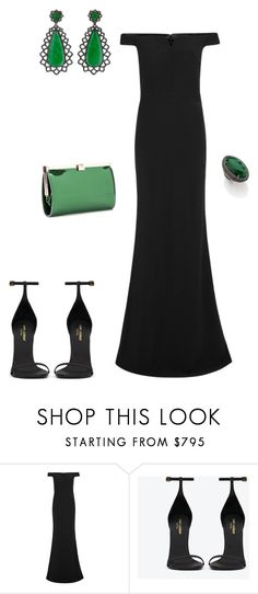 """Sem título #2093"" by analuli on Polyvore featuring moda, Alexander McQueen, Carla Amorim, Yves Saint Laurent e Jimmy Choo"