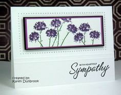 CAS37: With Sympathy Stampin Up Happy Harmony
