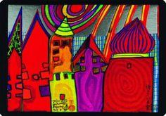 hundertwasser | Titre de l'image : Friedensreich Hundertwasser -