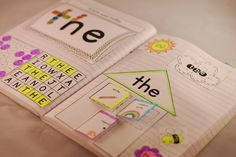 Sight Word Interactive Notebooks - great for introducing, practicing and revising sight words