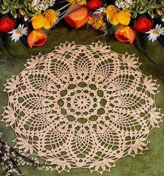 Crochet Pattern of Simple Pineapple Crochet Lace Doily