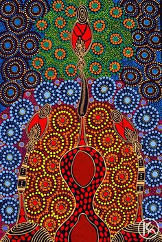 Dreamtime sisters by Colleen Wallace Nungari from Utopia, Central Australia created a 29 x 44 cm Acrylic on Canvas painting SOLD at the Aboriginal Art Store Aboriginal Art Symbols, Aboriginal Dot Painting, Aboriginal Artists, Stippling Art, Folk, Art Premier, Australian Art, Indigenous Art, Native Art