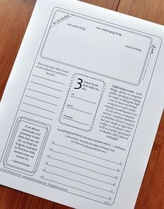 Printable journal pages.
