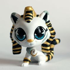 Super Cute Egyptian Kitty (Piaslittlecustoms OC) Littlest Pet Shop LPS custom #Hasbro