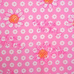 He Loves Me Not Cotton Knit Fabric by David & Goliath