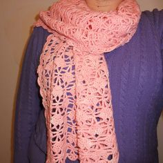 by simchasjewels - from free pattern by Pierrot Yarns: http://www.ravelry.com/patterns/library/tours-scarf