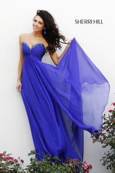 2013 Sherri Hill 21035 Royal Purple Homecoming Dresses
