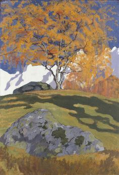 Giovanni GIACOMETTI. Autumn [oil on canvas].