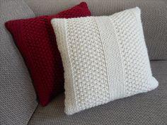 Emma's Moss Stitch Cushion pattern by The Craft Closet : Ravelry: Emma's Moss Stitch Cushion pattern by The Craft Closet Knitted Cushion Covers, Cushion Cover Pattern, Knitted Cushions, Knitted Blankets, Cat Cushion, Crochet Home, Knit Crochet, Free Knitting, Knitting Patterns