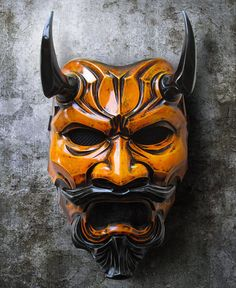 Uncle Oni Mask 334 -  Japanese Noh Style Fiberglass Art Mask Costume - FREE SHIPPING