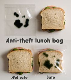 Anti-theft lunch bag ;)