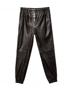 Black Leather Sweatpant