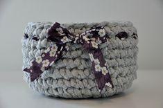 Panier en crochet en tissu recyclé maison   Flora & Gatts bricolent (et cuisinent aussi !!)