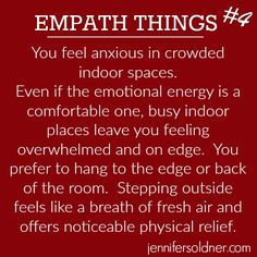 As an empath I've learned how to handle being in large crowds in my line of work. However, there is definitely relief in getting away from it.