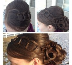 Love this hairstyle ! Very classy & elegant.
