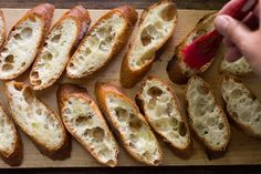 Tips for making a better bruschetta. Catering Recipes, Catering Food, Bruschetta Recipe, King Arthur Flour, Baking Tips, Bread Recipes, Breads, Appetizers, Dinner