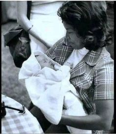 Katherine Jackson w/ baby Michael