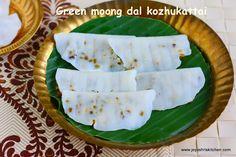 Elai kozhukattai recipe   Green moong dal kara kozhakattai  