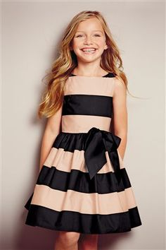 Pretty girls' dresses in denim, skater & midi styles to add to her everyday wardrobe. Cute Dresses, Stripe Dress, Little Girl Dresses, Girls Dresses, Flower Girl Dresses, Little Girl Fashion, Kids Fashion, Ghana Fashion, Girl Clothing
