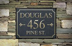 Address Plaques | The Stone Mill - Rectangle Design - Customize with your name, year or house number!