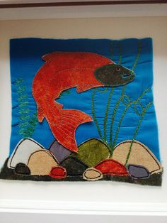 Fabric salmon picture