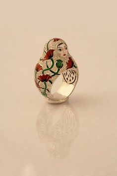 "cybertropix: ""Matryoshka ring by Russian jeweler: Ilgiz Fazulzyanov "" Cute Jewelry, Jewelry Accessories, Jewelry Design, Jewlery, Contemporary Jewellery, Modern Jewelry, Russian Jewelry, Matryoshka Doll, Jewel Box"