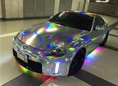 VViViD Silver Holographic Rainbow Chrome Vinyl Wrap Film Self-adhesive DIY Roll