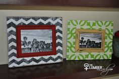 See this DIY tutorial on how to easily make these decorative layered frames out of a little wood, a dollar store frame and some chalk paint.