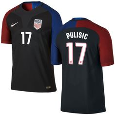 c8ea714a202 Christian Pulisic Away Authentic Men s Jersey 2016 USA Soccer Team Usa  Soccer Team