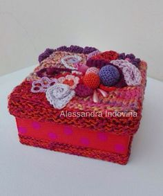 Freeform crochet - small box
