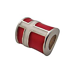 Zable Sterling Silver Enameled Denmark Flag Bead * Check out the image by visiting the link.(This is an Amazon affiliate link)