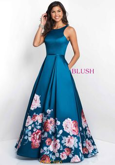 Blush Floral Plus A Line Dress 11136