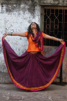 A real simple Ghagra Choli in cotton.