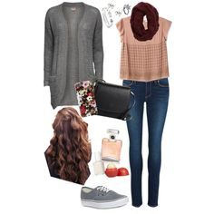 A fashion look from November 2014 featuring Joie t-shirts, ONLY cardigans and Paige Denim jeans. Browse and shop related looks.