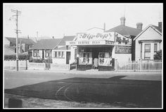 John Street Dairy, NEWTOWN late / early Mr and Mrs Heard ran this for a few years. They lived behind the shop OWR 6 July 2017 6 July, 1940s, Dairy, Scene, Mansions, Street, House Styles, Shop, Manor Houses