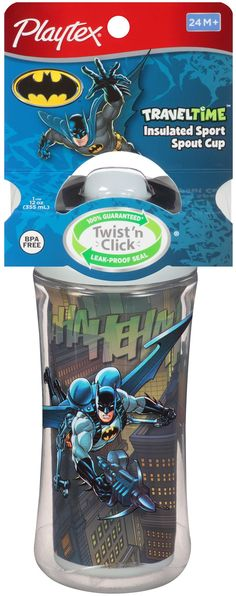 Playtex TravelTime Spout Sippy Cup, Super Friends Sport, 12 Ounce