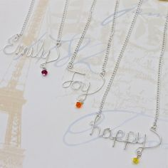 Personalized name necklace custom name necklace by WychwoodDreams