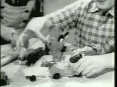 Aww...made my heart swell watching these. Here are the 1960s commercials. There's Slinky, Mr Machine, Mr Potato Head (the original one--using a real potato), Hasbro showing several 'new' toys, Rock 'Em Sock 'Em Robots. Makes me sad...homesick for a MUCH simpler, sweeter time.