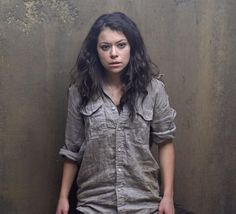 Tatiana Maslany, a lead drama actress nominee for 'Orphan Black,' says the show changes ideas of how women can behave on TV. Orphan Black, Sarah Manning, Tatiana Maslany, Canadian Actresses, Fashion Night, Back To Black, Girl Crushes, Military Jacket, Looks Great