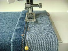 The Originals, Paw Patrol, Denim, Sewing Tutorials, Sewing Tips, Pants Tutorial, Reuse Old Clothes, Dressmaker, Hemline