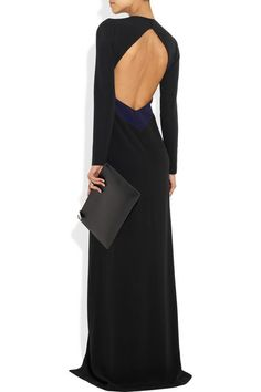 Burberry Prorsum open-back crepe gown