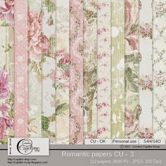 CAJOLINE-SCRAP: Romantic papers CU - 3