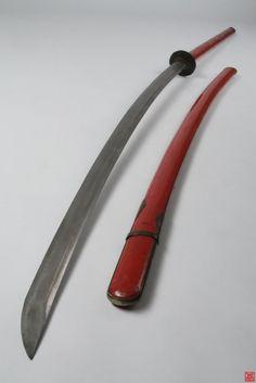 Nagamaki. Samurai Weapons, Katana Swords, Japanese Blades, Japanese Sword, Swords And Daggers, Knives And Swords, Club Weapon, Oriental, Martial