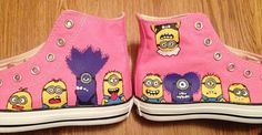 Despicable Me Minion Hand Painted Converse Shoes on Etsy, $85.00