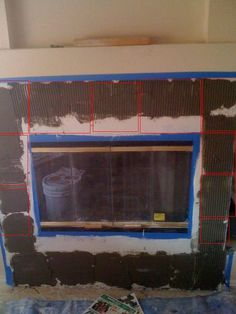 Removing tile from fireplace and installing new how to ...